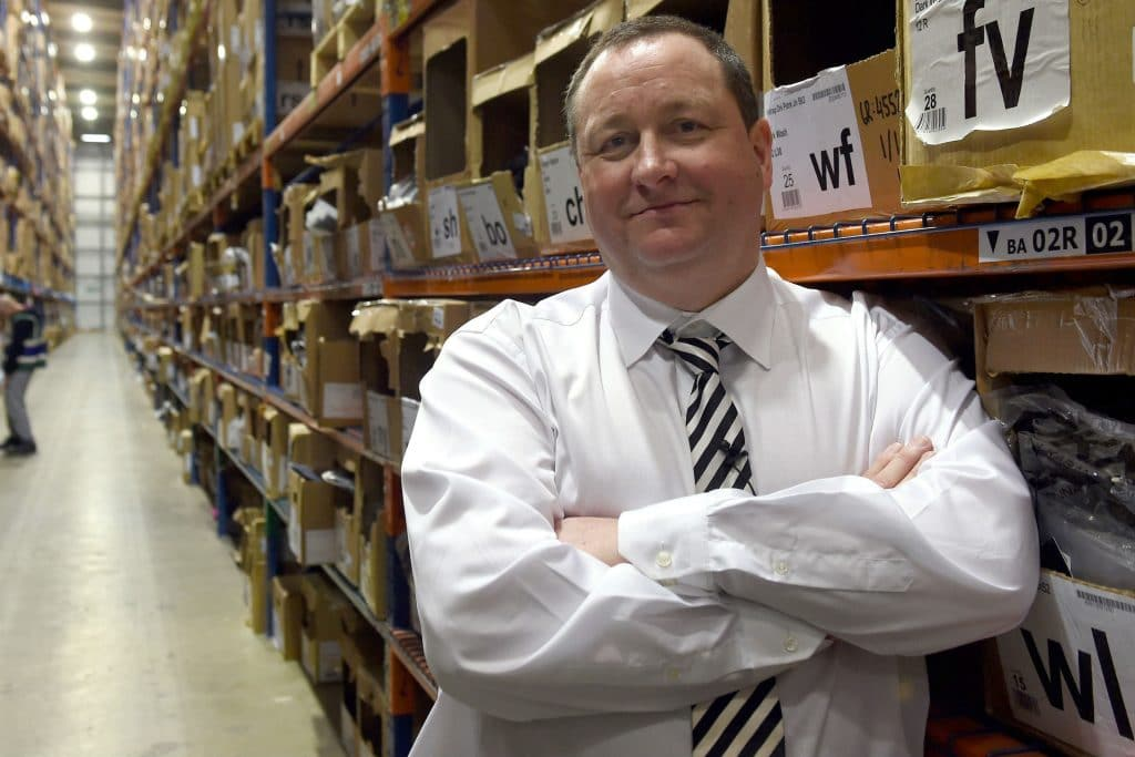 80% plunge in profits at Mike Ashley's holding company