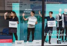 "Debenhams participated in a Help for Heroes ""40,000 strong"" campaign by featuring 'live' mannequins in its window displays - including veteran amputees and fashion influencers. The live mannequins included five veterans and family members who have been supported by Help for Heroes"