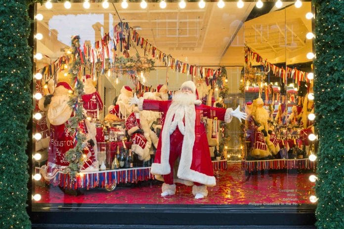 Christmas Window.Selfridges Unveils Christmas Windows 66 Days In Advance