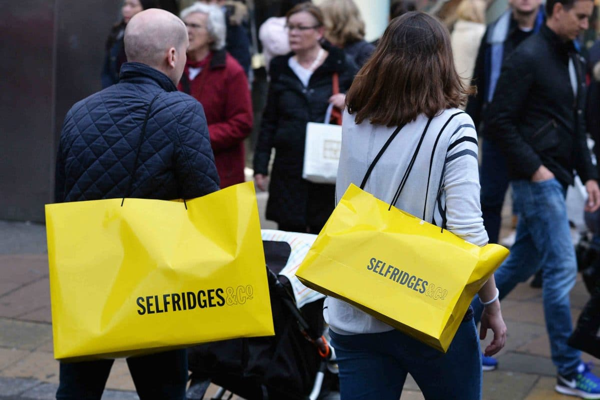 Selfridges outshines department stores with 10% Christmas