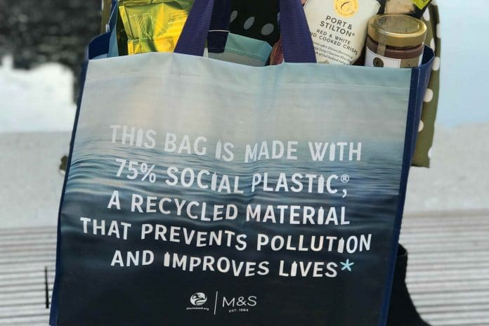 M&S shopping bag