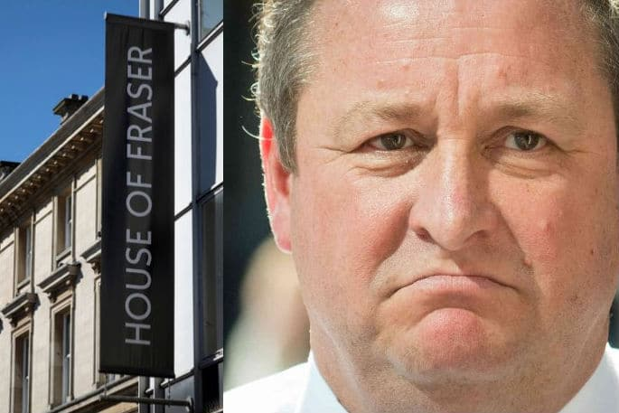 House of Fraser Mike Ashley