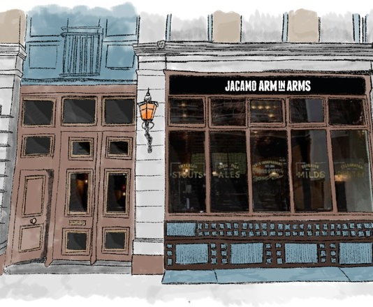Menswear retailer Jacamo opened the doors to its first ever pub the Jacamo Arm-in-Arms, on November 27 for one day only. Rather than draw in the crowds with craft ale and live music the retailer's aim was to get men 'down the pub' to have an open debate about the issues current facing modern men.