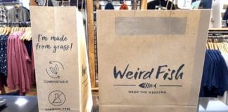 Casual and outdoor clothing retailer Weird Fish has announced the widespread introduction of grass paper carrier bags throughout its retail portfolio. It will be the first UK retailer to launch an initiate using the eco-friendly grass paper bags.