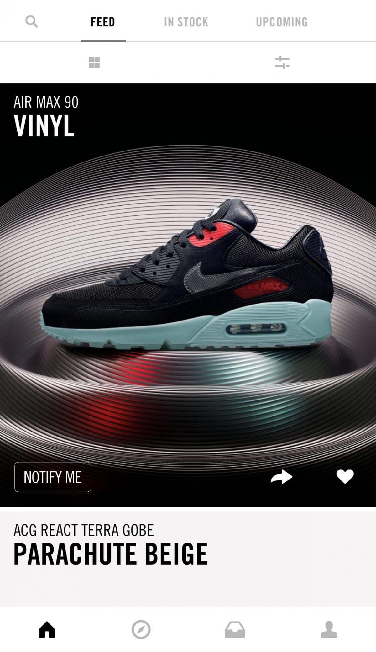 Nike Sneakrs app sportswear
