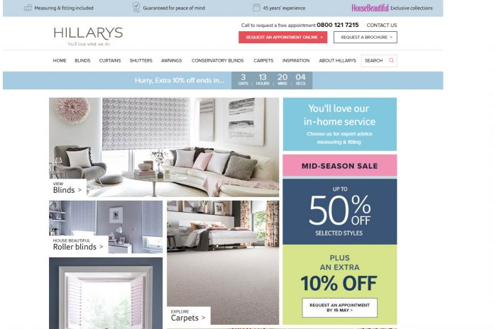 Hillarys Blinds Online >> Hillarys Blinds Sold For 300 Million Retail Gazette