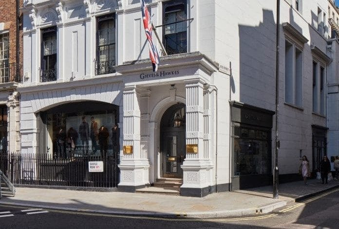 Gieves & Hawkes trading update Savile Row Shandong Ruyi