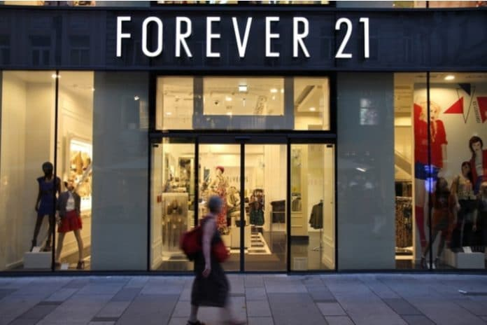 Forever 21 store closures RSM administration Chapter 11 bankruptcy
