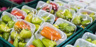 Supermarket plastic packaging waste