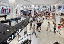 department store spending